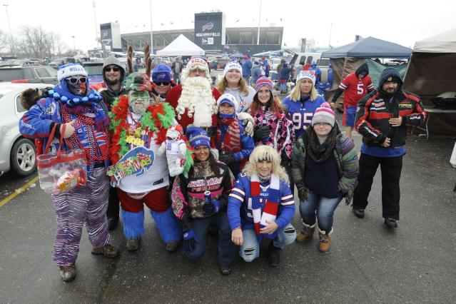 "<a class=""link rapid-noclick-resp"" href=""/nfl/teams/buf"" data-ylk=""slk:Buffalo Bills"">Buffalo Bills</a> fans won't be able to slam each other through tables anymore. (AP)"