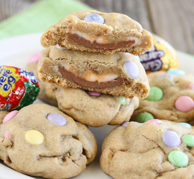 """<p>On the outside, this looks like any other spring cookie...until you get a bite of the Cadbury Creme Egg stuffed inside. </p><p><em><a href=""""https://kirbiecravings.com/cadbury-eggs-stuffed-chocolate-chip-cookies/"""" rel=""""nofollow noopener"""" target=""""_blank"""" data-ylk=""""slk:Get the recipe from Kirbie's Cravings »"""" class=""""link rapid-noclick-resp"""">Get the recipe from Kirbie's Cravings »</a></em> </p>"""