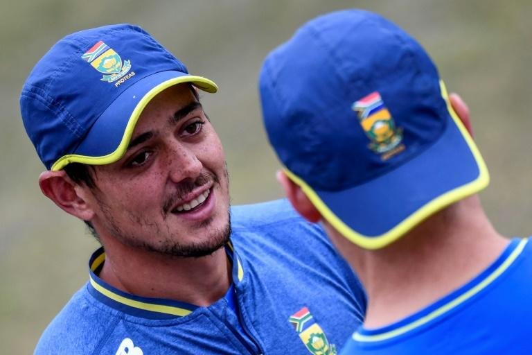 De Kock (L) has been named South African cricketer of the year for the second time