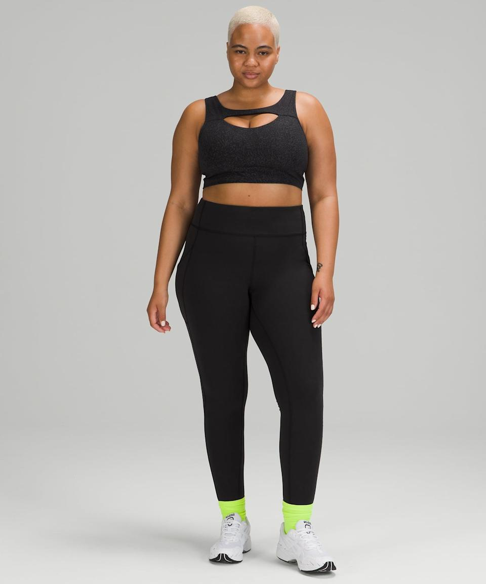 <p>I'm someone who likes to switch up my workouts; one day I'm doing my favorite Pilates workout, and the next I'm sweating it out on my Peloton bike. While I respect the fact that different pants are built for different activities, sometimes you just want one versatile piece that can move with you. Enter the <span>Lululemon Invigorate High-Rise Tight</span> ($128). It's specifically designed to take you through a multitude of workouts; it's made of Everlux so it's sweat-wicking and breathable but thick enough to provide support, and it doesn't have a back zipper, allowing you to lie down in Pilates or yoga. Plus, it has side pockets. So basically, sold.</p> <p><b>Why we love it:</b> If you don't know what your workout will entail, reach for these comfortable leggings. They're great for low-impact, high-impact, and everything in between.</p>