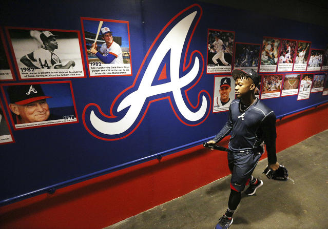 Ronald Acuna is ready to rake, and he's arriving soon. (Curtis Compton/Atlanta Journal-Constitution via AP)