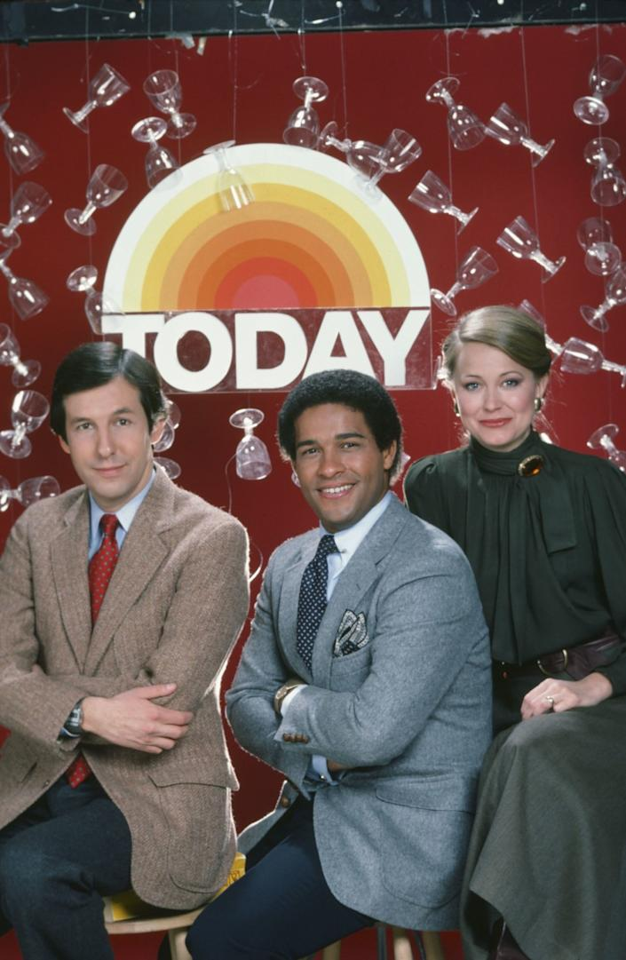 Chris Wallace, Bryant Gumbel and Jane Pauley in 1982