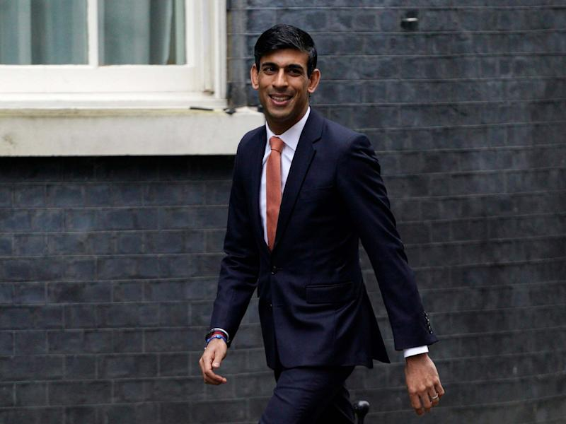 Rishi Sunak leaves Downing Street after being appointed chancellor of the exchequer on 13 February 2020: EPA