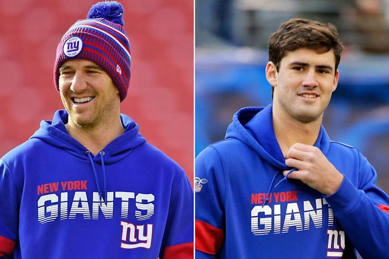 Giants Quarterbacks Eli Manning and Daniel Jones Spotted Playing Flip Cup at Bar After Win