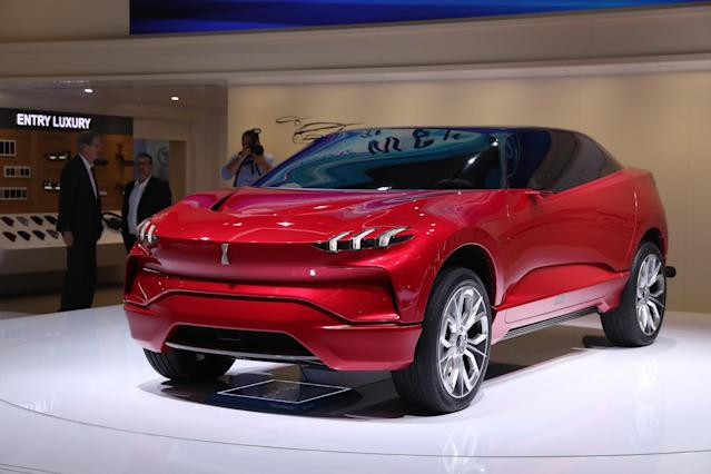 <p><strong>Wey XEV</strong><br>Not typically recognized as a vehicular powerhouse, China made a strong showing at this year's IAA with the XEV from Wey, a subsidy of Great Wall. The mid-sized SUV has a distinct look from many of its European counterparts. This hybrid can seat four, and autonomous driving features for it are currently in the works. Anticipated launch year: Unknown. (Photo by Sean Gallup/Getty Images) </p>