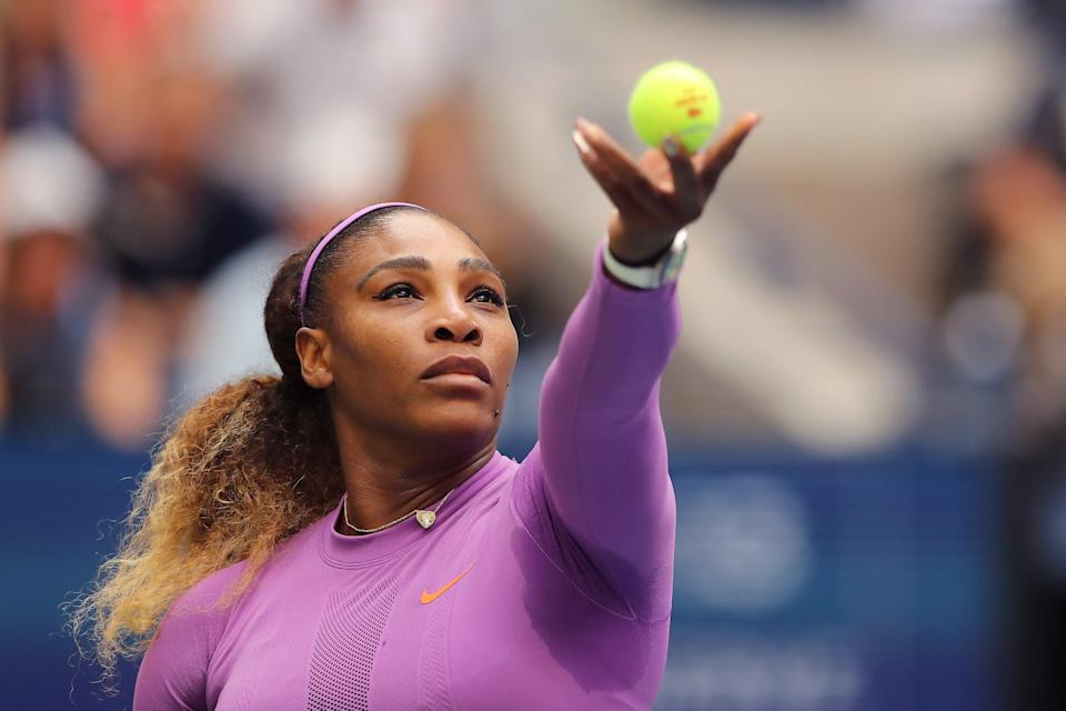 """<p>It would be shorter to list the barriers Serena Williams <em>hasn't</em> broken through during her illustrious tennis career. She is <a href=""""https://www.popsugar.com/fitness/how-many-olympic-medals-has-serena-williams-won-47158282"""" class=""""link rapid-noclick-resp"""" rel=""""nofollow noopener"""" target=""""_blank"""" data-ylk=""""slk:a four-time Olympic gold medalist"""">a four-time Olympic gold medalist</a> and has won 23 Grand Slams, the last of which came <a href=""""https://www.popsugar.com/fitness/Who-Oldest-Grand-Slam-Winners-Tennis-46372763"""" class=""""link rapid-noclick-resp"""" rel=""""nofollow noopener"""" target=""""_blank"""" data-ylk=""""slk:when she was 35 years old"""">when she was 35 years old</a> and pregnant with her daughter Olympia. But Williams is also <a href=""""https://www.popsugar.com/celebrity/serena-williams-statement-support-for-meghan-markle-48204072"""" class=""""link rapid-noclick-resp"""" rel=""""nofollow noopener"""" target=""""_blank"""" data-ylk=""""slk:a champion for other women"""">a champion for other women</a> and <a href=""""https://www.popsugar.com/fitness/serena-williams-best-quotes-on-body-positivity-47887133"""" class=""""link rapid-noclick-resp"""" rel=""""nofollow noopener"""" target=""""_blank"""" data-ylk=""""slk:the body-positive hero we deserve"""">the body-positive hero we deserve</a>. """"There was a time <a href=""""https://theundefeated.com/features/serena-williams-sits-down-with-common-to-talk-about-race-and-identity/"""" class=""""link rapid-noclick-resp"""" rel=""""nofollow noopener"""" target=""""_blank"""" data-ylk=""""slk:when I didn't feel incredibly comfortable about my body"""">when I didn't feel incredibly comfortable about my body</a> because I felt like I was too strong,"""" Williams told <strong>The Undefeated</strong>, acknowledging the criticisms faced by Black women, specifically. """"I had to take a second and think, 'Who says I'm too strong? This body has enabled me to be the greatest player that I can be.'""""</p>"""