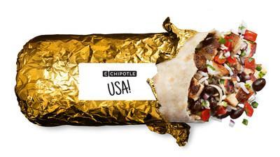 To celebrate American athletes competing in Tokyo, Chipotle will serve gold foil-wrapped burritos for a limited time at participating locations in-restaurant and through digital orders starting July 23.