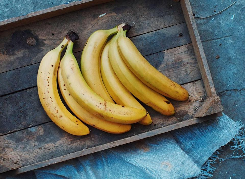 Bananas on a tray