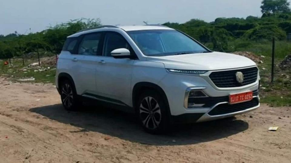MG Hector (facelift) spotted testing with minor updates