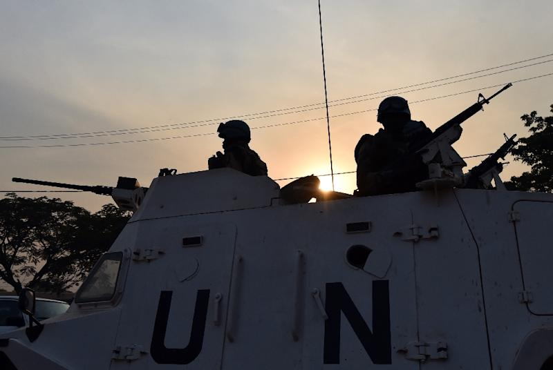 Two UN missions account for the majority of claims of sex abuse by peacekeepers: the MINUSCA force in the Central African Republic and MINUSCO in the Democratic Republic of Congo, but there were also cases in Ivory Coast and Mali (AFP Photo/Issouf Sanogo)