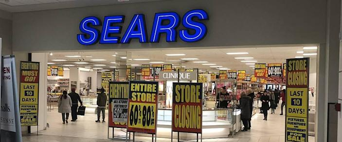 A Sears store going out of business