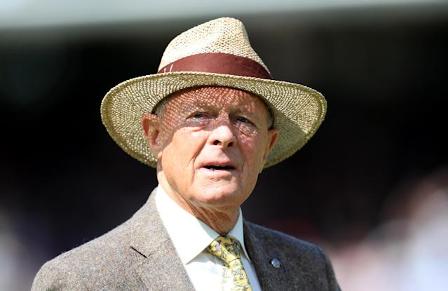 Geoffrey Boycott during day five of the first Ashes Test. (Credit: Getty Images)