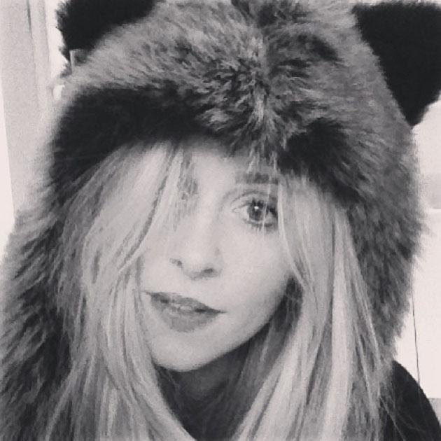 Celebs in winter woolies: Diana Vickers got all cosy in this furry hood. Copyright [Diana Vickers]