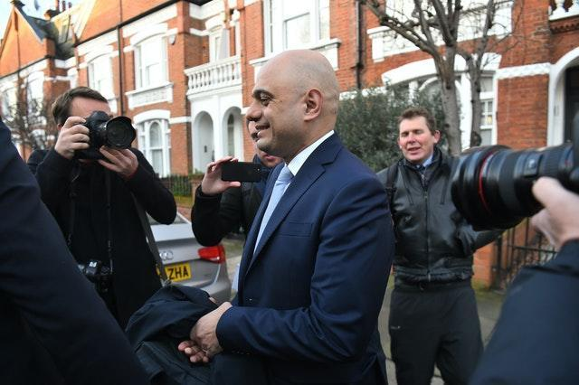 Sajid Javid leaves his south London home following the Cabinet reshuffle