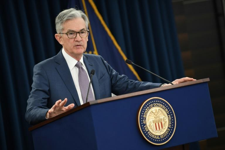 Federal Reserve Chair Jerome Powell again pledged to keep interest rates low as he offered a cautious outlook on the US economy