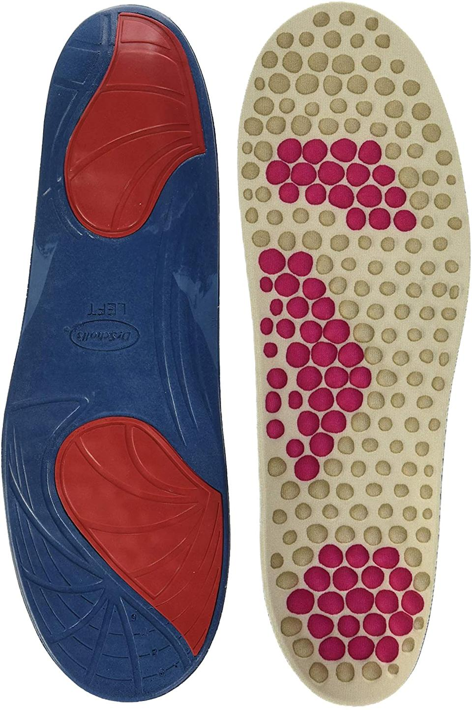 Massaging pads help relieve foot pain with ever step. Image via Amazon.
