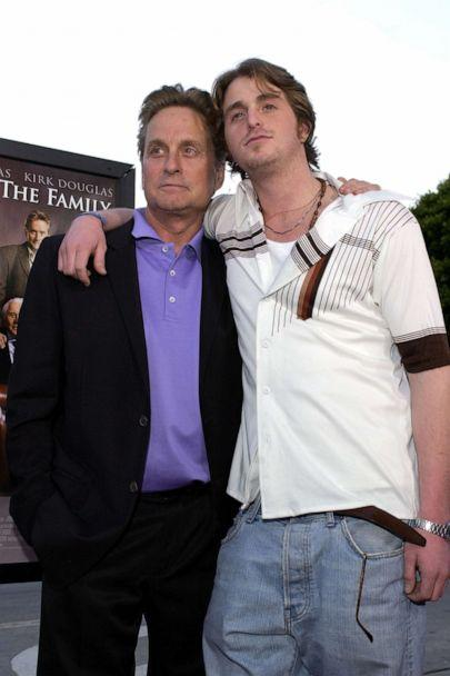 PHOTO: Michael Douglas & Cameron Douglas attend the premiere of 'It Runs In The Family' in Westwood, Calif., April 07, 2003. (L. Cohen/WireImage via Getty Images, FILE)