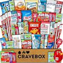 """<p><strong>CRAVEBOX</strong></p><p>amazon.com</p><p><strong>$25.45</strong></p><p><a href=""""https://www.amazon.com/dp/B01N22CM3F?tag=syn-yahoo-20&ascsubtag=%5Bartid%7C2140.g.35285082%5Bsrc%7Cyahoo-us"""" rel=""""nofollow noopener"""" target=""""_blank"""" data-ylk=""""slk:Shop Now"""" class=""""link rapid-noclick-resp"""">Shop Now</a></p><p>Okay so, this is pretty much the ultimate gift for munchie-lovers and snackers alike. With literally every kind of treat imaginable in this one box, you can rest easy knowing your Valentine will have literally no complaints (and a satisfied belly) this year, hah. </p>"""