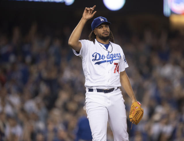 Dodgers closer Kenley Jansen balked on purpose and there's a good reason for it. (AP Photo/Kyusung Gong)