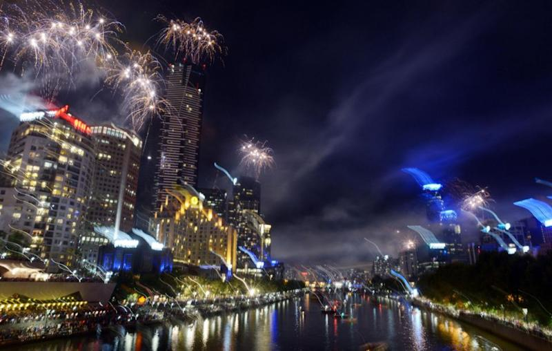 A great place to see the displays over the Yarra River is at the Yarra Park. This is always a popular vantage points for families. Source: Getty