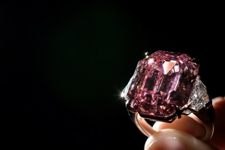 The Pink Legacy, a nearly 19-carat 'fancy vivid' pink diamond, was once owned by the Oppenheimer family