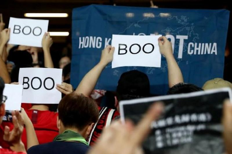 Hong Kong Protesters Boo China's National Anthem, Sing Battle Song Instead at Football WC Qualifier
