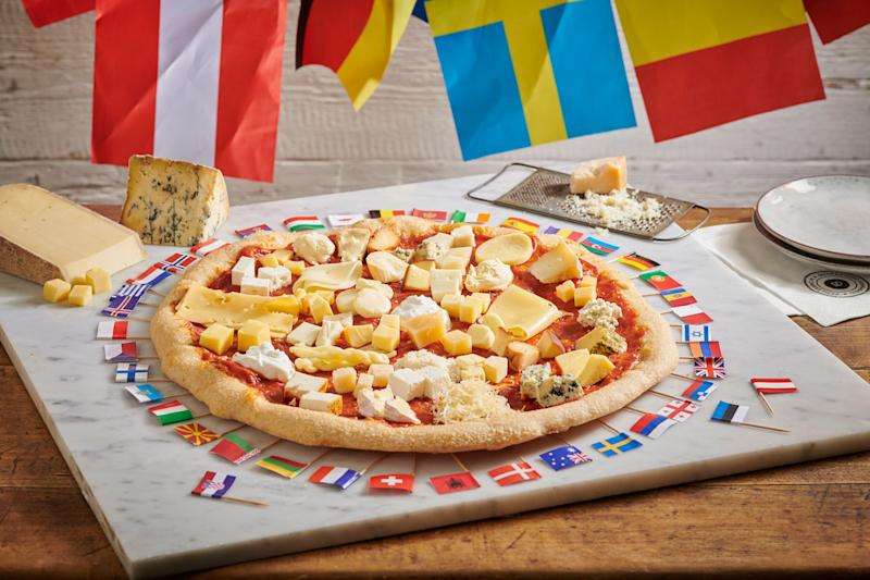 Will you be ordering a 41-cheese pizza to celebrate the Eurovision Song Contest? [Photo: SpareRoom]