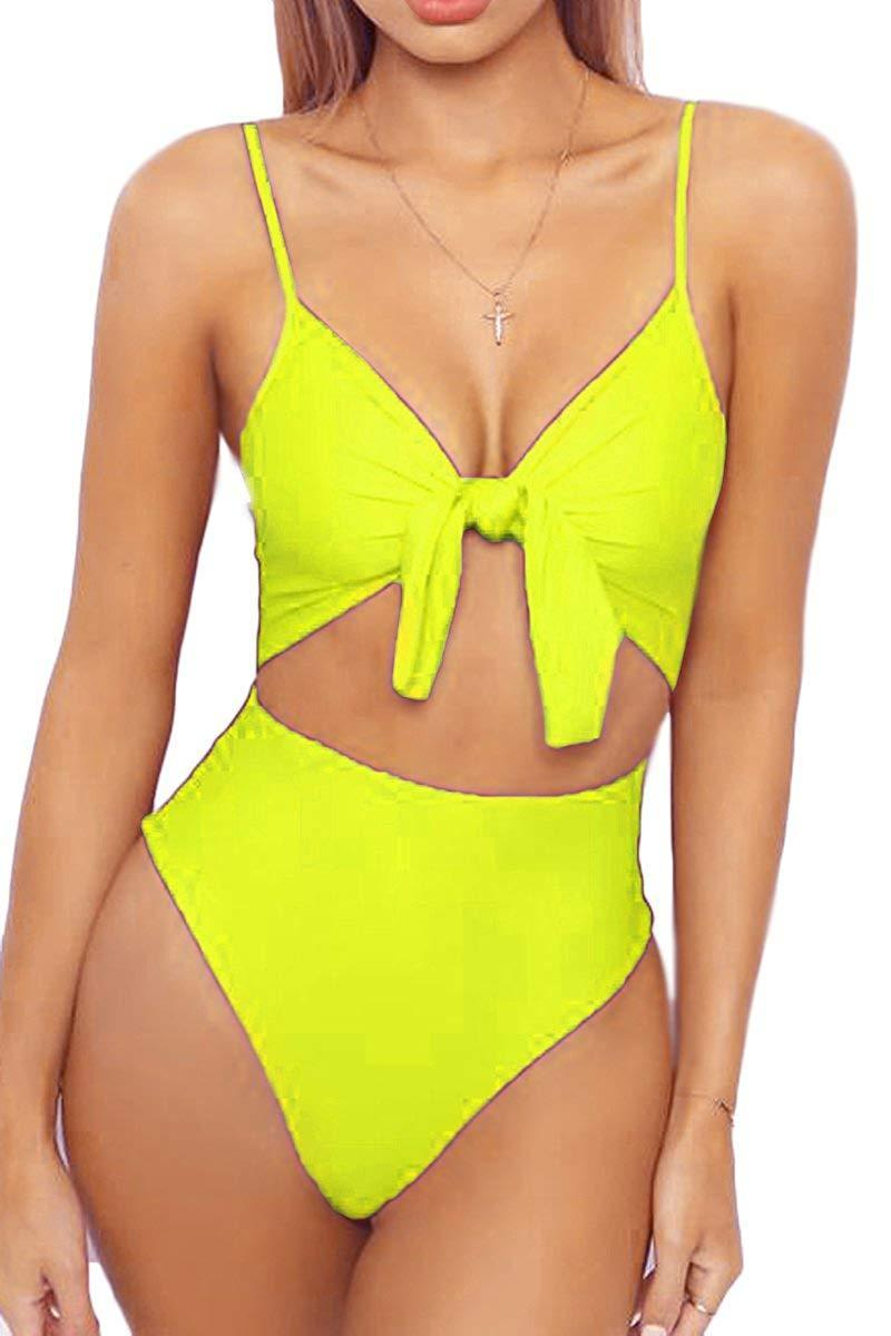 """The tie-front detail is quickly transitioning from trend to classic in our books – and you can jump (or stay) on the bandwagon for a mere $20, thanks to this fanatically-endorsed monokini. Over 600 purchasers sung its praises — included one customer who proclaimed the suit """"EVERYTHING!!"""" in the title of her enthusiastic review.<br><br><strong>Leisup</strong> Knotted-Front Cheeky Monokini, $, available at <a href=""""https://www.amazon.com/LEISUP-Womens-Spaghetti-Cutout-Swimsuit/dp/B07FNCXD2D/ref=sr_1_15?"""" rel=""""nofollow noopener"""" target=""""_blank"""" data-ylk=""""slk:Amazon"""" class=""""link rapid-noclick-resp"""">Amazon</a>"""