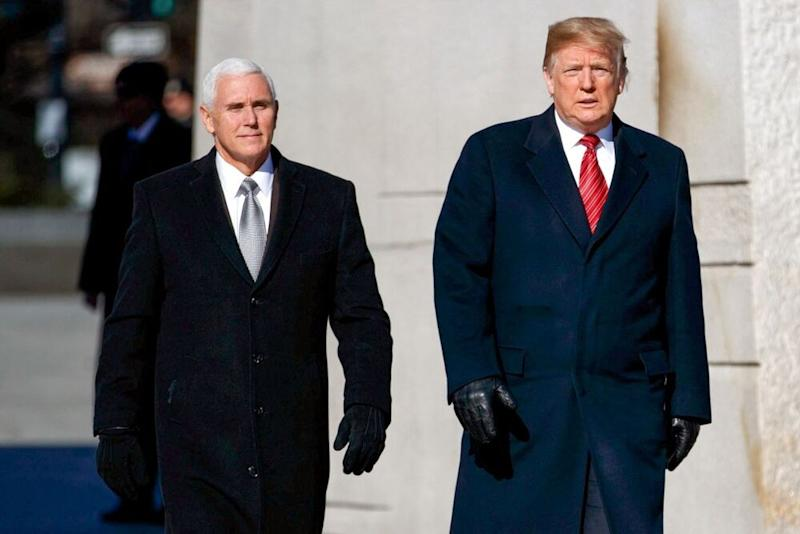Vice President Mike Pence (left) and President Donald Trump | Evan Vucci/AP/REX/Shutterstock