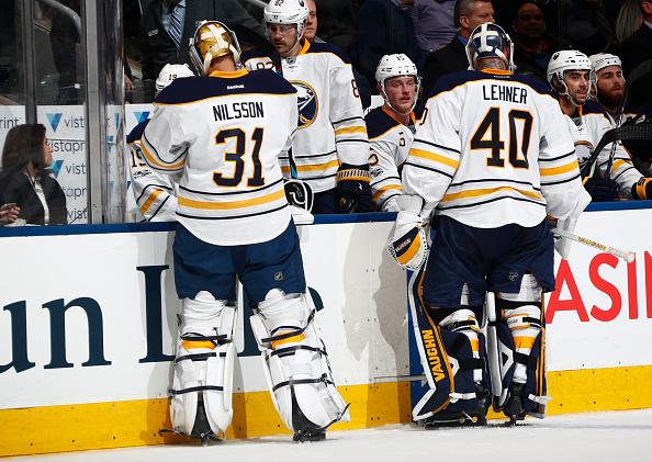 Toronto On January  Robin Lehner  Of The Buffalo Sabres Is