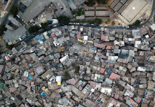 The shantytown on the San Cristobal hill on the outskirts of Lima, Peru, on May 24, 2020