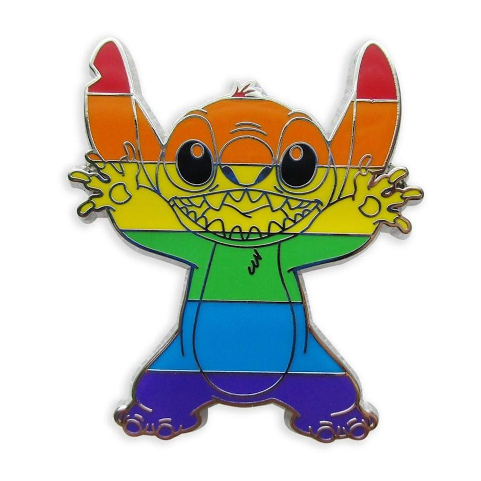 <p>Make rainbow-colored Stitch a part of your wardrobe with this <span>Stitch Pin</span> ($10).</p>
