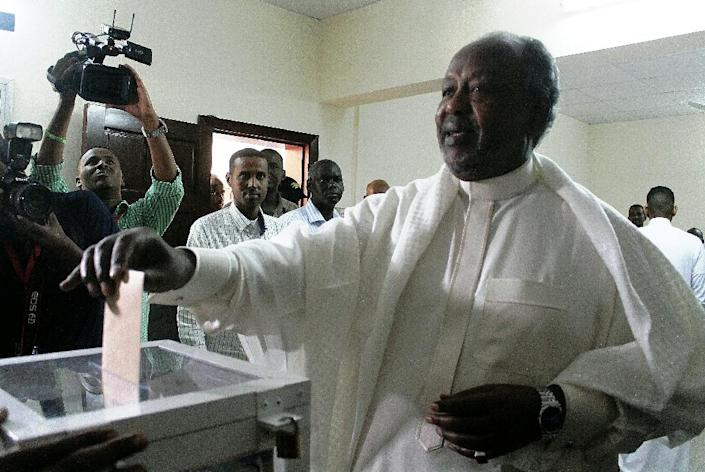 Djibouti's President Ismail Omar Guelleh won 86.68 percent of ballots in the presidential election, according to the interior ministry (AFP Photo/Houssein I. Hersi)