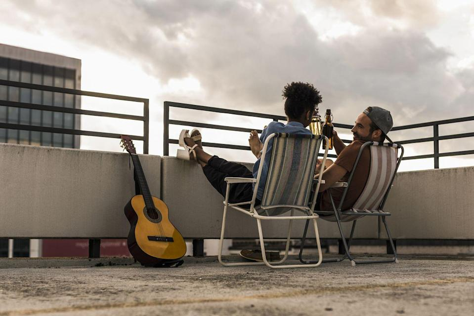 """<p>Have a rooftop you're always """"meaning to use more""""? Now's your time to get out there: grab some drinks, a portable bluetooth speaker, and head outside to watch the sunset.</p>"""