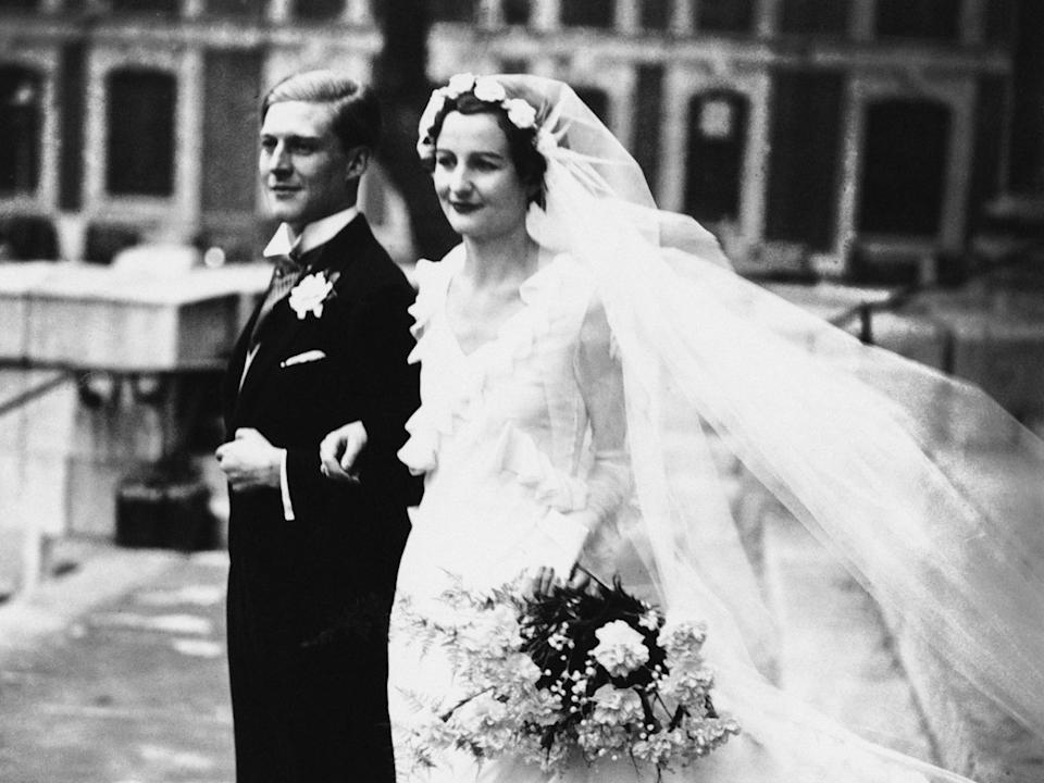 Nancy Mitford had an unhappy marriage to Peter Rodd, ending with divorce in 1957Getty Images