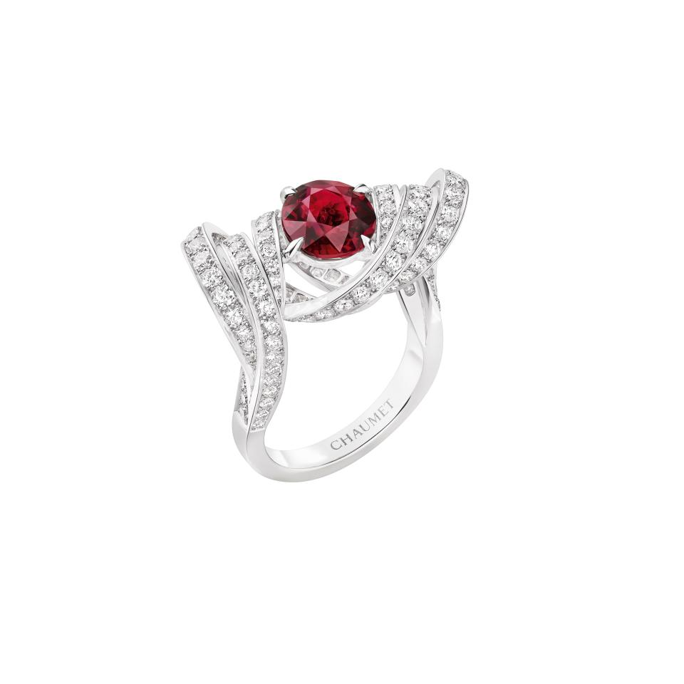 Chaumet's ruby ring from the Torsade collection. - Credit: Courtesy of Chaumet