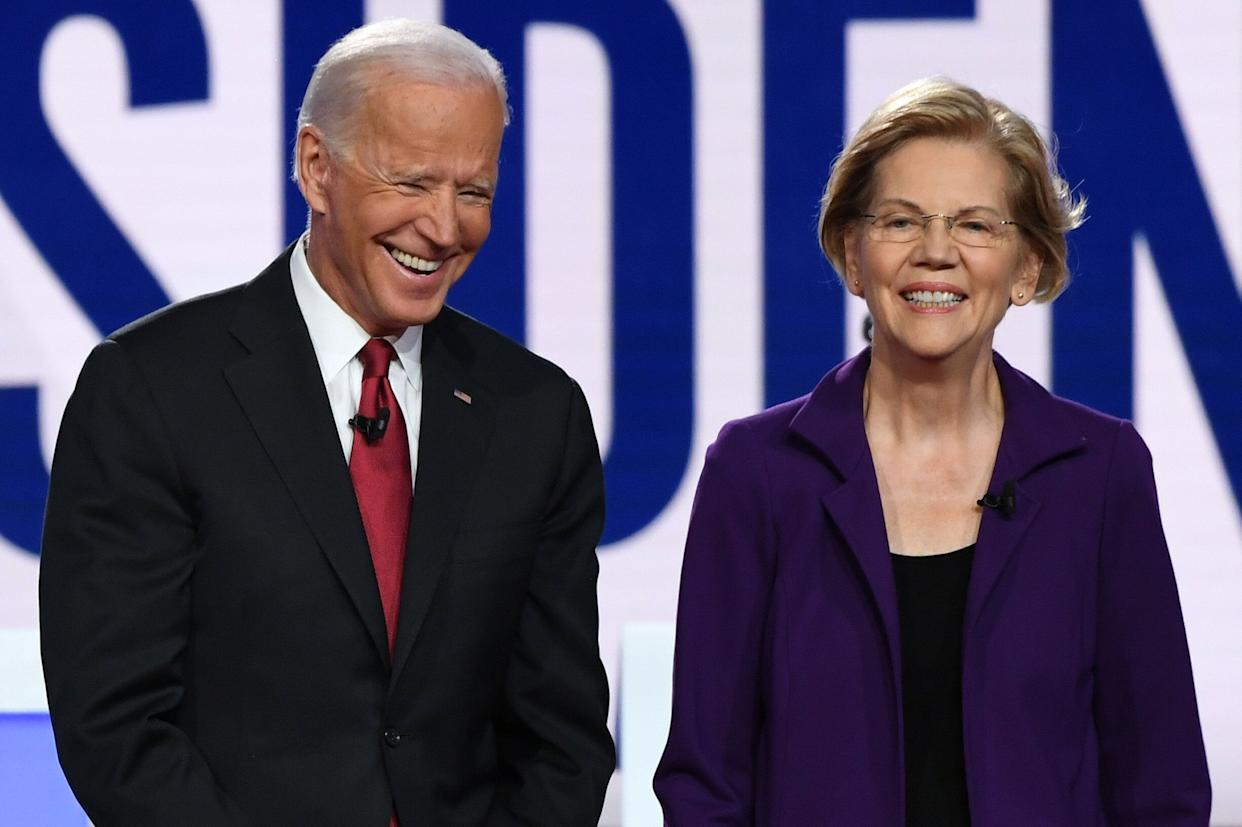 Sen. Elizabeth Warren (D-Mass.) and former Vice President Joe Biden appeared in many debates against each other during the Democratic presidential primaries. Now, Warren says she'd be willing to be Biden's running mate.