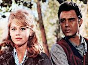 """<p>Fonda played Catherine """"Cat"""" Ballou, who returns to her homeland with Clay Boone (Michael Callan) after her father is killed for refusing to sell his ranch to a corporation, in the 1965 Western <em>Cat Ballou.</em></p>"""