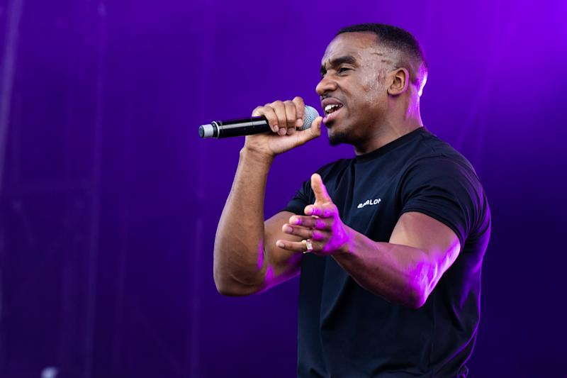 LONDON, ENGLAND - JULY 05: Bugzy Malone performs on stage during Wireless Festival 2019 on July 05, 2019 in London, England. (Photo by Lorne Thomson/Redferns)