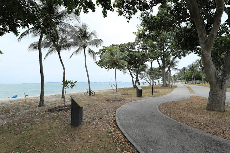 Coastal defences will be needed to protect areas such as Changi Beach, said Prime Minister Lee Hsien Loong. PHOTO: Ministry of Communications and Information