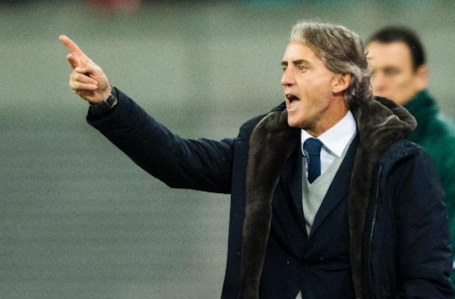 Roberto Mancini won league titles with both Man City and Inter Milan, but has struggled in Russia with Zenit (AFP Photo/ROBERT MICHAEL)