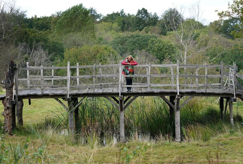 The sturdy structure, which was built around 1907, rose to fame after being included in the Pooh series and was officially renamed Poohsticks Bridge in 1979 (Gareth Fuller/PA) (PA Wire)