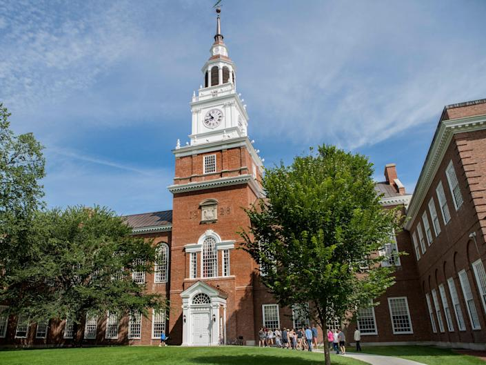 A building at Dartmouth College in Hanover.