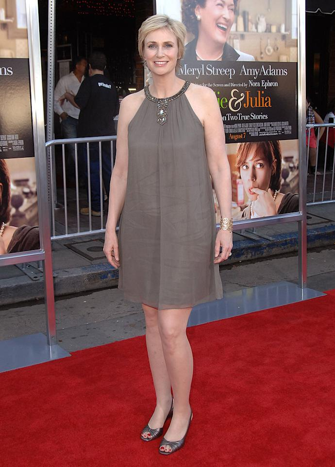 """<a href=""""http://movies.yahoo.com/movie/contributor/1802866092"""">Jane Lynch</a> at the Los Angeles premiere of <a href=""""http://movies.yahoo.com/movie/1810006886/info"""">Julie & Julia</a> - 07/27/2009"""