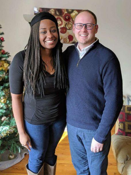 PHOTO:  Jasmin Ford, 30, poses in her Chicago home with Mike Crawford of Fifth Third Bank. (Fifth Third Bank)