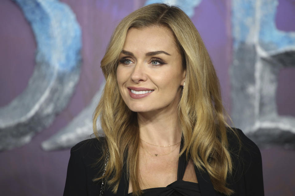 "Photo by: zz/KGC-161/STAR MAX/IPx 2019 11/17/19 Katherine Jenkins at the European premiere of ""Frozen 2"" held at the BFI Southbank Cinema on November 17, 2019 in London, England, UK."
