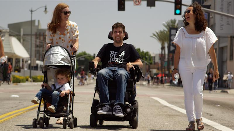 Ady Barkan and his family