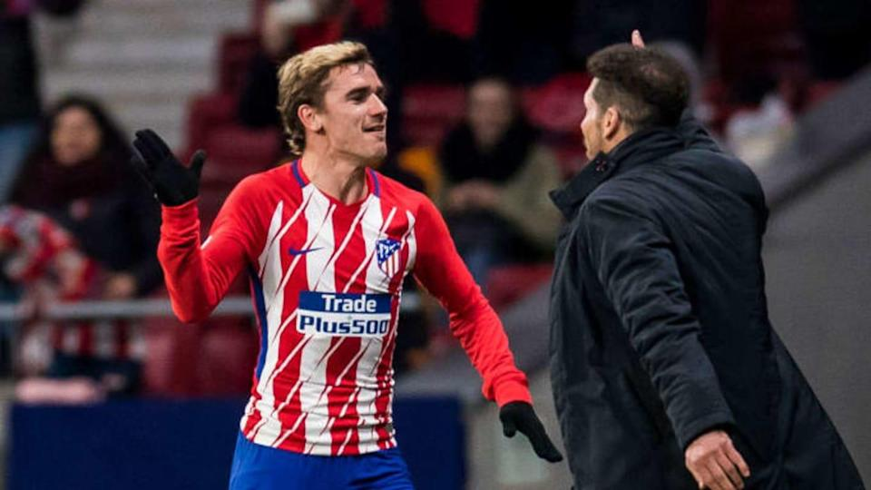 Antoine Griezmann y Diego Simeone | Power Sport Images/Getty Images
