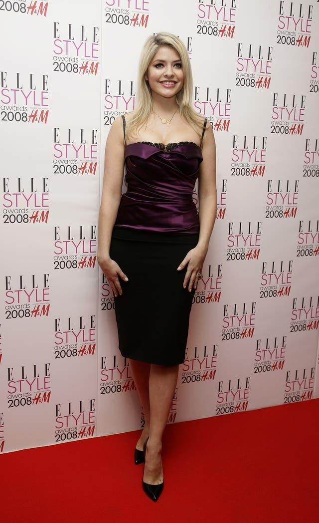 Holly Willoughby arrives for the ELLE Style Awards 2008