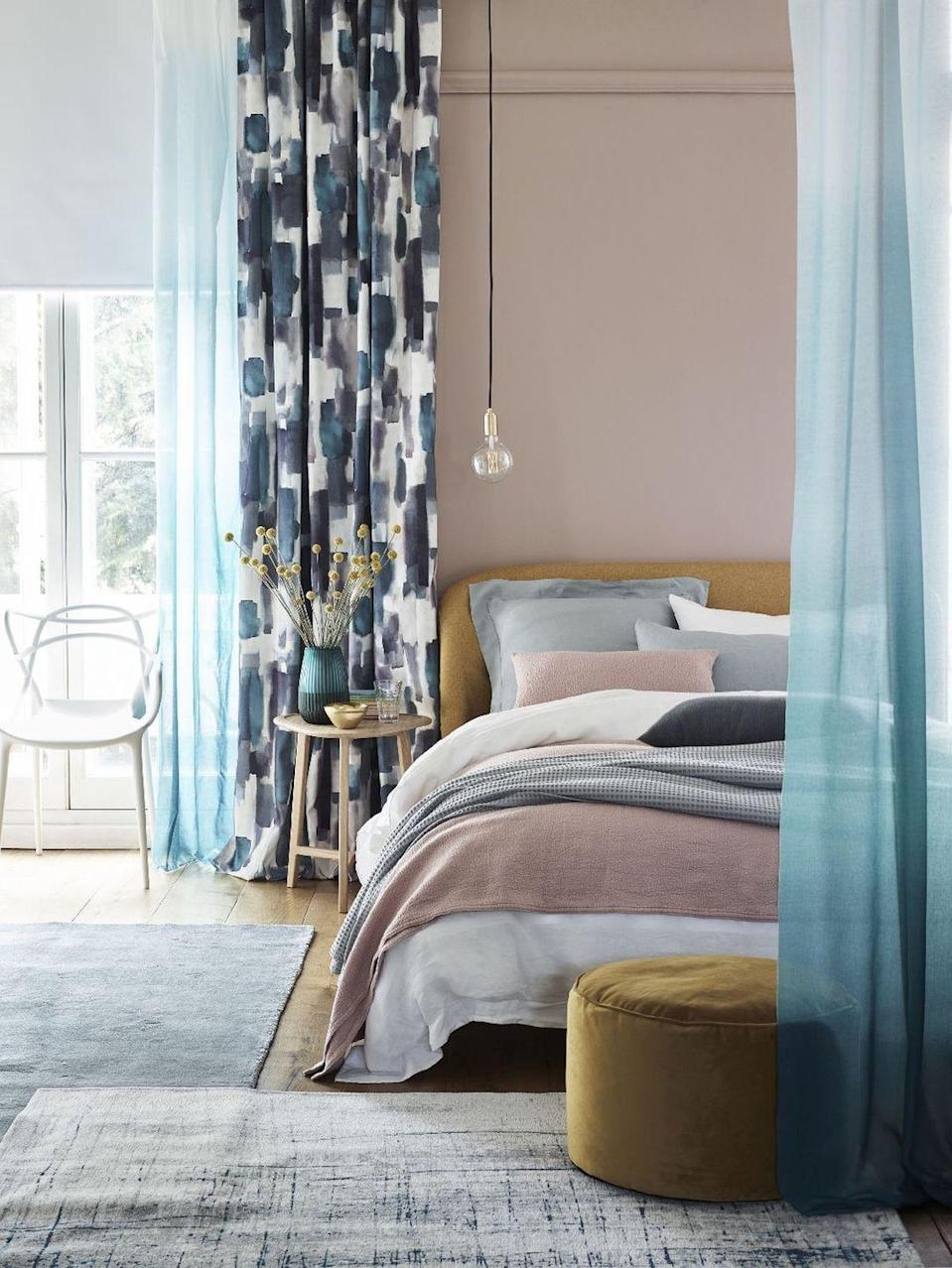 "<p><strong>Play around with feel-good textures and fabrics on your bed for a cosy, glamorous look. Not only will this give you the chance to get creative with colours, but it will create an incredibly grown-up feel. Your bedroom should be a sanctuary, after all. </strong></p><p>'Bedrooms, traditionally described as the private, rather than public, rooms in the home are now being shared more widely. Inspire others as to how you have created your sanctuary and sense of comfort through layered throws, blankets and textured accent pillows,' Pip Prinsloo, Partner & Head of Design at Home at John Lewis & Partners tells <strong>House Beautiful UK</strong>. </p><p><strong>Pictured</strong>: <a href=""https://go.redirectingat.com?id=127X1599956&url=https%3A%2F%2Fwww.johnlewis.com%2Fbrand%2Fhouse-by-john-lewis%2F_%2FN-1z14045&sref=https%3A%2F%2Fwww.housebeautiful.com%2Fuk%2Fdecorate%2Fbedroom%2Fg28786488%2Finstagram-bedroom%2F"" rel=""nofollow noopener"" target=""_blank"" data-ylk=""slk:John Lewis & Partners bedding, throws and cushions"" class=""link rapid-noclick-resp"">John Lewis & Partners bedding, throws and cushions</a> </p><p><a class=""link rapid-noclick-resp"" href=""https://go.redirectingat.com?id=127X1599956&url=https%3A%2F%2Fwww.johnlewis.com%2Fjohn-lewis-partners-show-wood-upholstered-bed-frame-double%2Fp3833216&sref=https%3A%2F%2Fwww.housebeautiful.com%2Fuk%2Fdecorate%2Fbedroom%2Fg28786488%2Finstagram-bedroom%2F"" rel=""nofollow noopener"" target=""_blank"" data-ylk=""slk:BUY NOW"">BUY NOW</a><br><br>We earn a commission for products purchased through some links in this article.<br></p>"